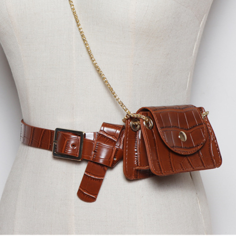 LANMREM 2020 Summer Mini Bag Female Models New Crocodile Pattern Fashion Chain Small Square Bag Shoulder Small Bag PC203