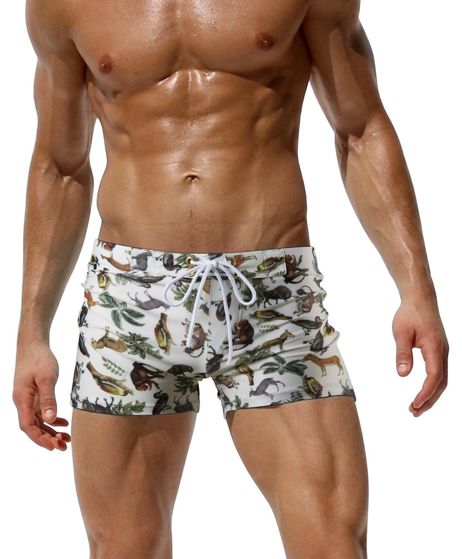 New Giraffe 6 Pattern Print Men's Swimsuit Bikini Swim Suit Boxers Beach Shorts Swimming Trunks Mens Swimwear Maillot De Bain
