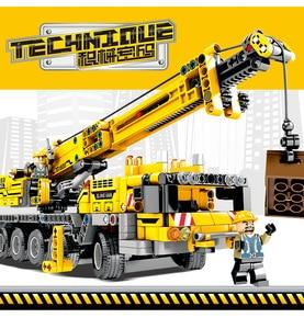 Image 3 - 665pcs Ewellsold Technic วิศวกรรมยก Crane Building Blocks ใช้งานร่วมกับ Technic รถบรรทุกก่อสร้างอิฐของเล่นสำหรับเด็ก