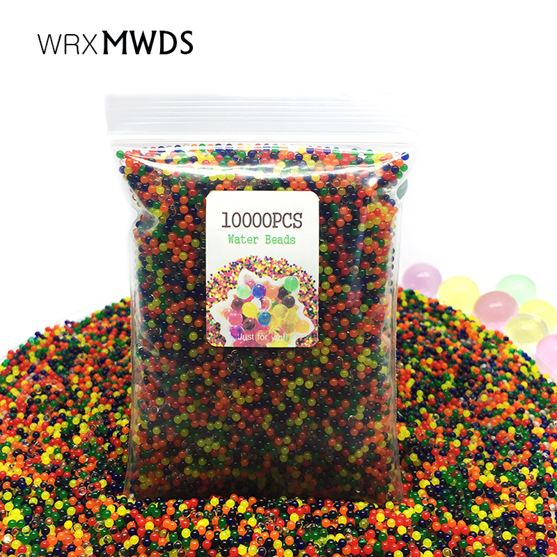 Straightforward 10000pcs/bag Crystal Soil Water Beads Hydrogel Orbiz Growing Gel Water Balls Christmas Gift Flower/wedding/decoration Yet Not Vulgar