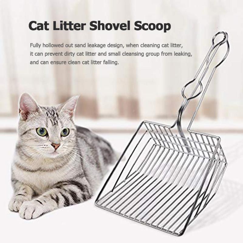 Cat Litter Scoop Stainless Steel Metal Pooper Scoopers Pets Litter Sand Shovel  Dogs Shovel Pet Cleanning Tool Cat Supplies