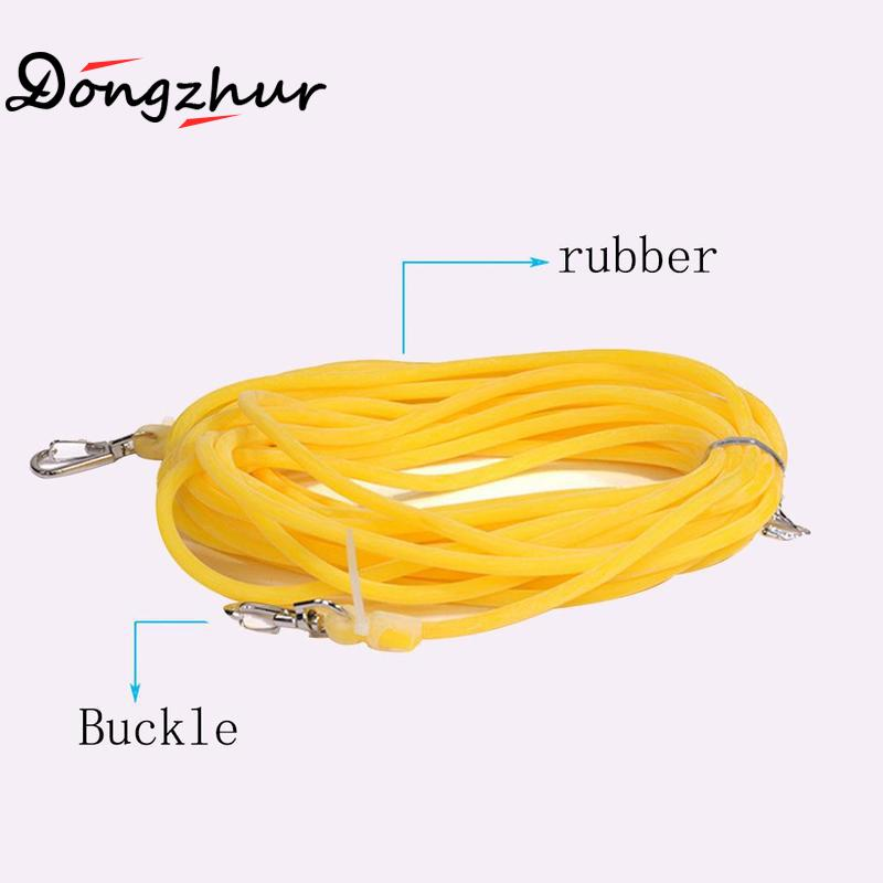 5m/10m Fishing Pole Rope Protection Elastic Rubber Safety Hose Anti-winding Missing Line Hooks With Prevent Anti-bite O7H3
