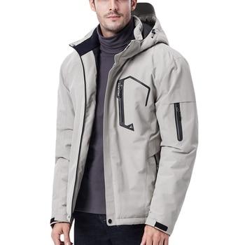 Men Outdoor Hiking Winter Jacket Women Softshell Heated Jacket USB Charge Sportswear Heating Sheet Detachable