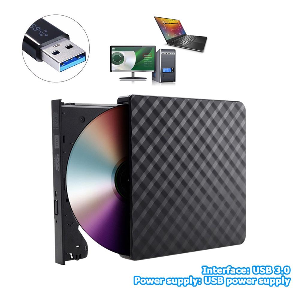 Portable USB 3.0 External DVD Burner CD/DVD ROM CD RW Player Optical Drive Writer Recorder for Laptop Computer PC