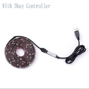 Led-Light Mini Leds SMD DC 5050 5V RGB for TV 1-5m with 3-Key Controller