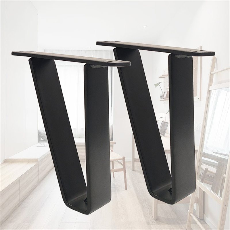 4Pcs/Set Simple Triangle Modern Furniture Wire Legs Carving TV Cabinet Seat Sofa Hairpin Table Legs Iron Black Legs For Table