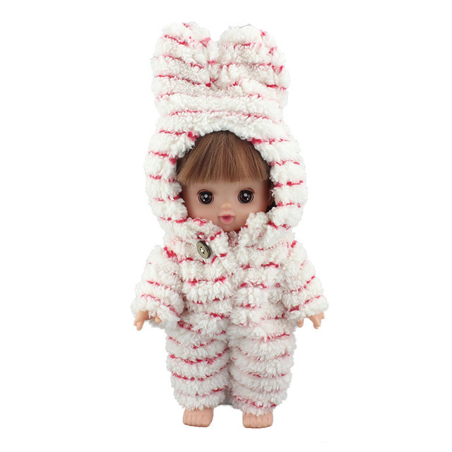 New Lovely Striped Jumpsuit for 25cm Mellchan Baby Doll Clothes Accessories