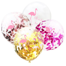 1pcs 라텍스 플라밍고 풍선 색종이 라운드 동물 ballons 어린이 파티에 대 한 행복 한 하와이 baloes 열 대 호의 jj209