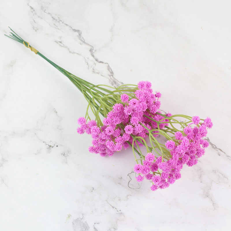 1PC ที่มีสีสันทารก Breath ดอกไม้ Gypsophila ดอกไม้ปลอม DIY ช่อดอกไม้จัดดอกไม้งานแต่งงานตกแต่ง