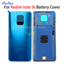 Original For Xiaomi Redmi note 9s Battery Cover Back Glass Panel Rear Housing case For Redmi note 9s Back battery Cover door