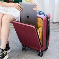 ¡Novedad de 2020! Maleta de viaje con ruedas para ordenador portátil, maleta con ruedas, caja de lujo para mujer, Maleta de negocios, Maleta moderna de 20 pulgadas