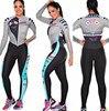 2019 pro equipe triathlon terno feminino camisa de ciclismo skinsuit macacão maillot ciclismo ropa ciclismo conjunto manga longa almofada gel 013 27