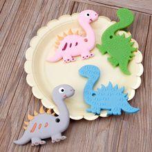 Силиконовый Прорезыватель для зубов в виде животных, Детские Прорезыватели для зубов, детские игрушки без бисфенола, Мультяшные подвески, ожерелье для кормления, игрушки для малышей, жевательные игрушки DXAD