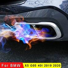 Накладки на выхлопную трубу автомобиля наклейки для bmw x5 g05