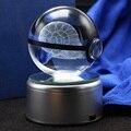 3D Omanyte Карманный Монстр мяч резной хрустальный шар LED Поворотный держатель лампы украшение комнаты