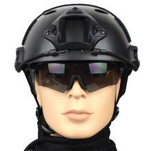 HobbyLane качество защитный Пейнтбол Wargame шлем армейский страйкбол MH тактический быстрый шлем с защитными Goggle легкий