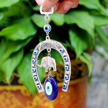 Glass Evil Eye Pendants Elephant Wall Eye, Hanging Decoration Blessing Protection Home Anywhere Your Need(China)