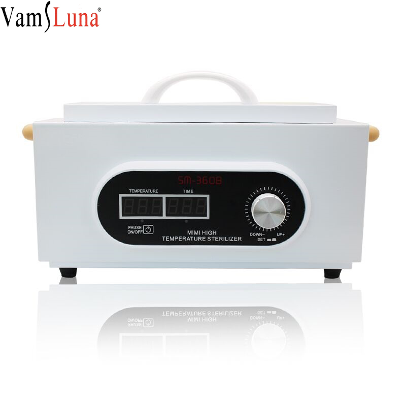 New LCD Display High Temperature Disinfection Anti Virus Cabinet Sterilizer Medical Nail Tool Electric Heating Sanitizing Box