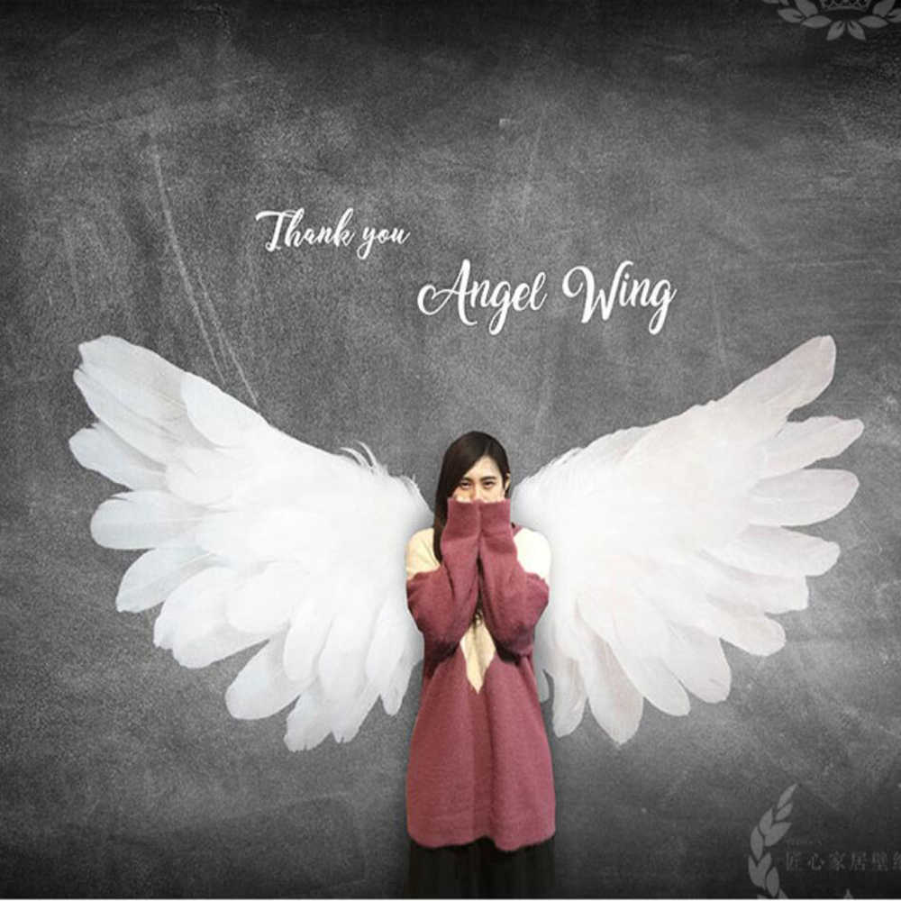 Custom 3d Stereo Angel Wings Background Wall Paper Feather
