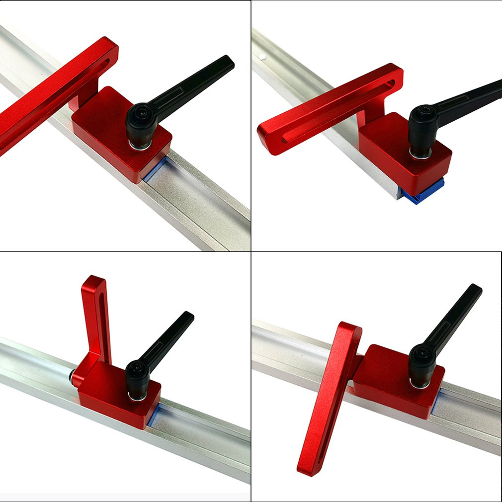 30 Type Woodworking Chute Special Limiter Aluminium Alloy T-tracks Woodworking Standard Miter Track Stop Woodworking Tool