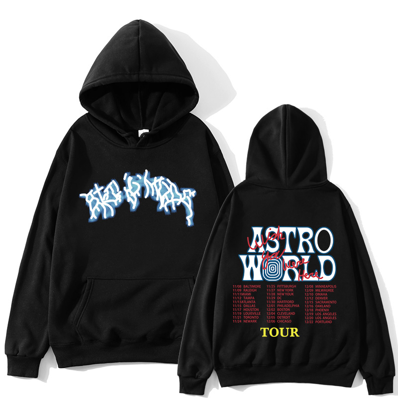 travis scoff tour ASTROWORLD hoodies unisex 1:1 high quality streetwear hip hop hoping you are here astroworld tour hoodies men