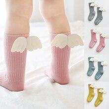 Гольфы для новорожденных девочек с крыльями ангела, хлопковые носки для мальчиков, Детские Носки ярких цветов, детские носки