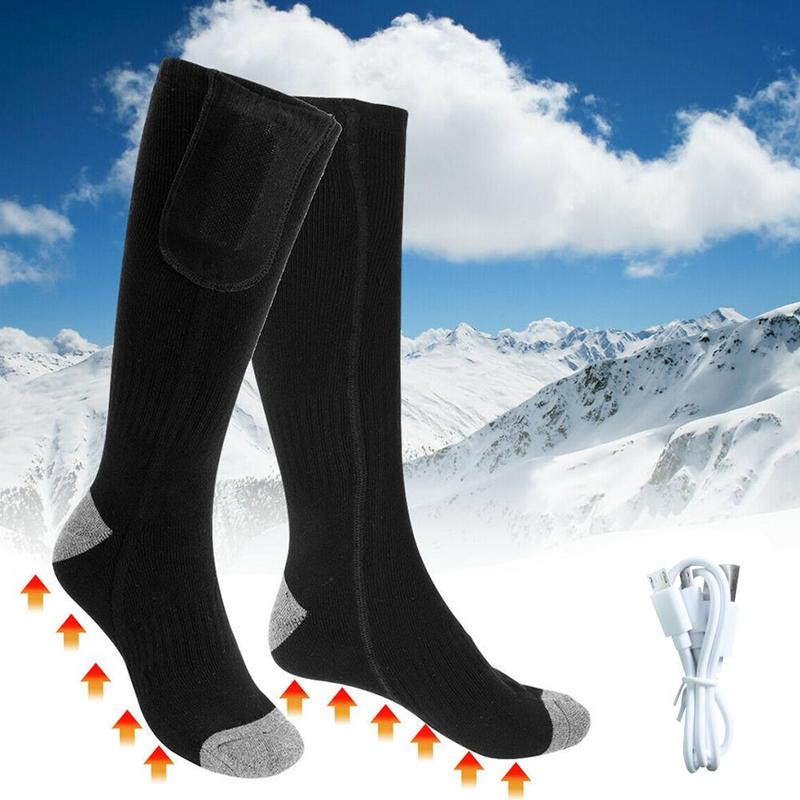 Battery Heated Socks Autumn Winter Men And Women Warm Comfortable Charging Heating Foot Warmers Thermal Long Tube Socks