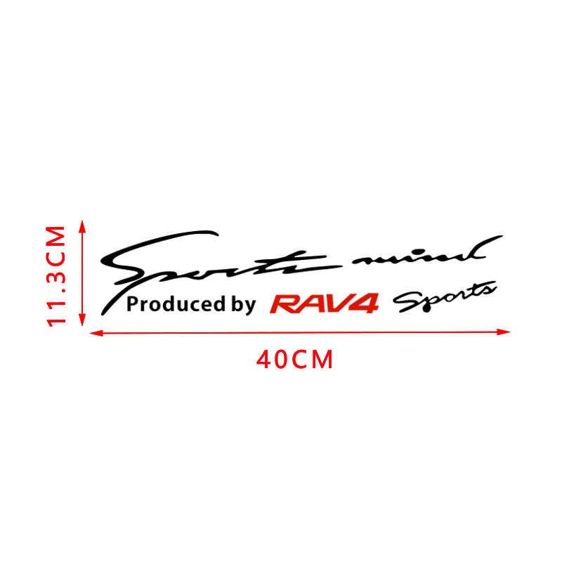 Kiểu Dáng Xe Vincy Đèn Lông Mày Miếng Dán Phản Quang Thể Thao Decal Trang Trí Cho Xe Toyota RAV4 Yaris Tràng Hoa Camry Bên Ngoài Phụ Kiện