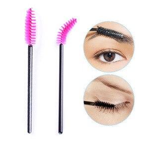 Image 5 - 50 pièces pinceaux à cils pinceaux de maquillage jetables Mascara baguettes applicateur multi couleurs cils cosmétiques pinceau outils de maquillage