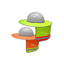 Shield-Accessories Shade Reflective-Tapes Hard-Hat Visor-Neck Yellow with Hi-Vis