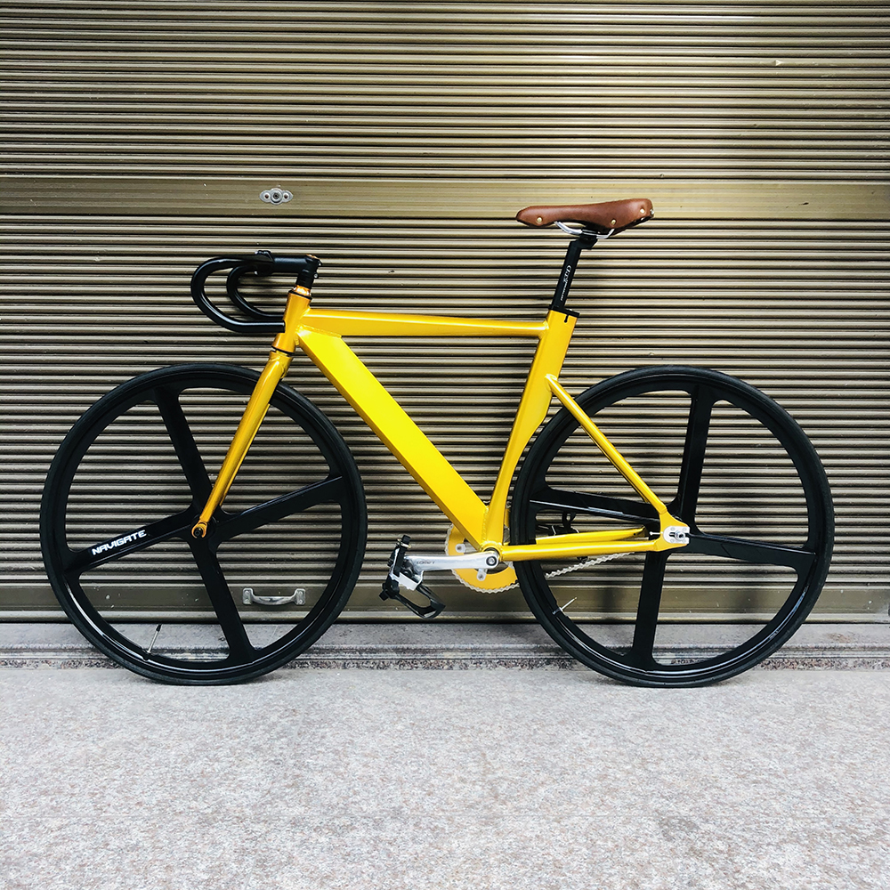 Fixie Bike frame 52cm 56cm single speed bike frame with Aluminum alloy fork color Track Bicycle 700C