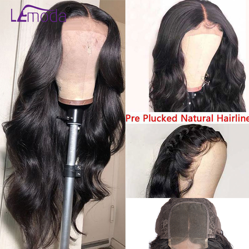 26 Inch Body Wave Wig Malaysian 4x4 Closure Wig Preplucked Natural Human Hair High Ratio Lemoda 26 Inch Body Wave Wig Malaysian 4x4 Closure Wig Preplucked Natural Human Hair High Ratio Lemoda 150% Remy Hair Lace Closure Wig