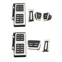 Carmilla-pedales de acero inoxidable para coche, cubierta de Pedal para Skoda Octavia 5E A7 2012 - 2020 Rapid 2013 - 2020