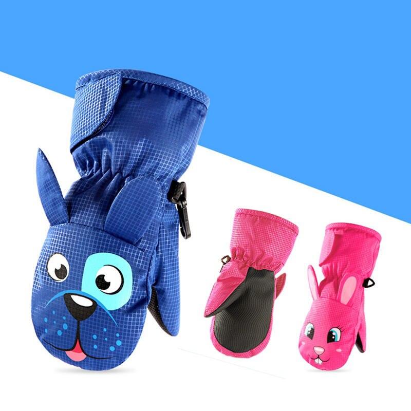 Children Gloves Mittens Waterproof Kids Winter Velvet Girls Non-Slip Boy Warm Hot