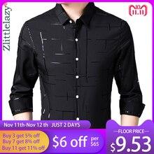 2020 Brand Casual Plaid Luxury Plus Size Long Sleeve Slim Fit Men Shirt Spring Social Dress Shirts Mens Fashions Jersey 41607