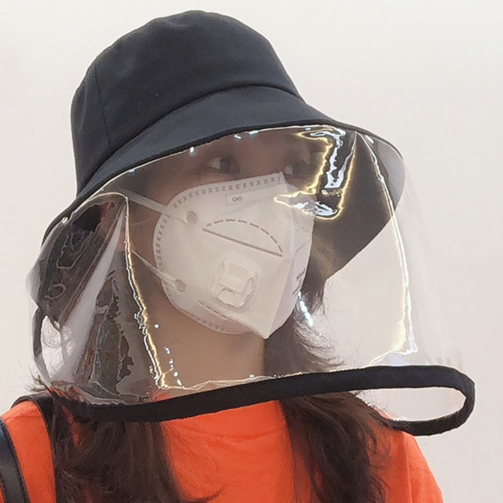 2020 New bucket hat Anti-dust and anti-fog anti saliva hat fisherman women men outdoor Protective  face mask