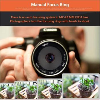 Meike 28mm F2.8 Manual Focusing Lens Metal Body Multi Coated APS-C for Canon Nikon Sony Fujifilm Olympus Panasonic Lumix