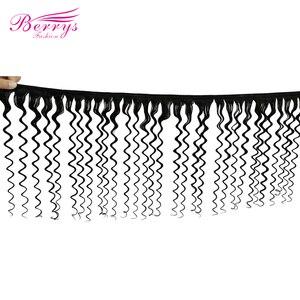 Image 2 - Berrys Mode Tiefe Welle Bundles Mit 13x4 & 13x6 Frontal 10 28 zoll 100% Unverarbeitete malaysia Menschliches Haar Weben