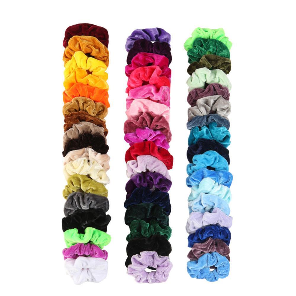 Fashion Accessories 30 Pcs 40 50 Velvet Elastic Hair Bands for Women or Girls