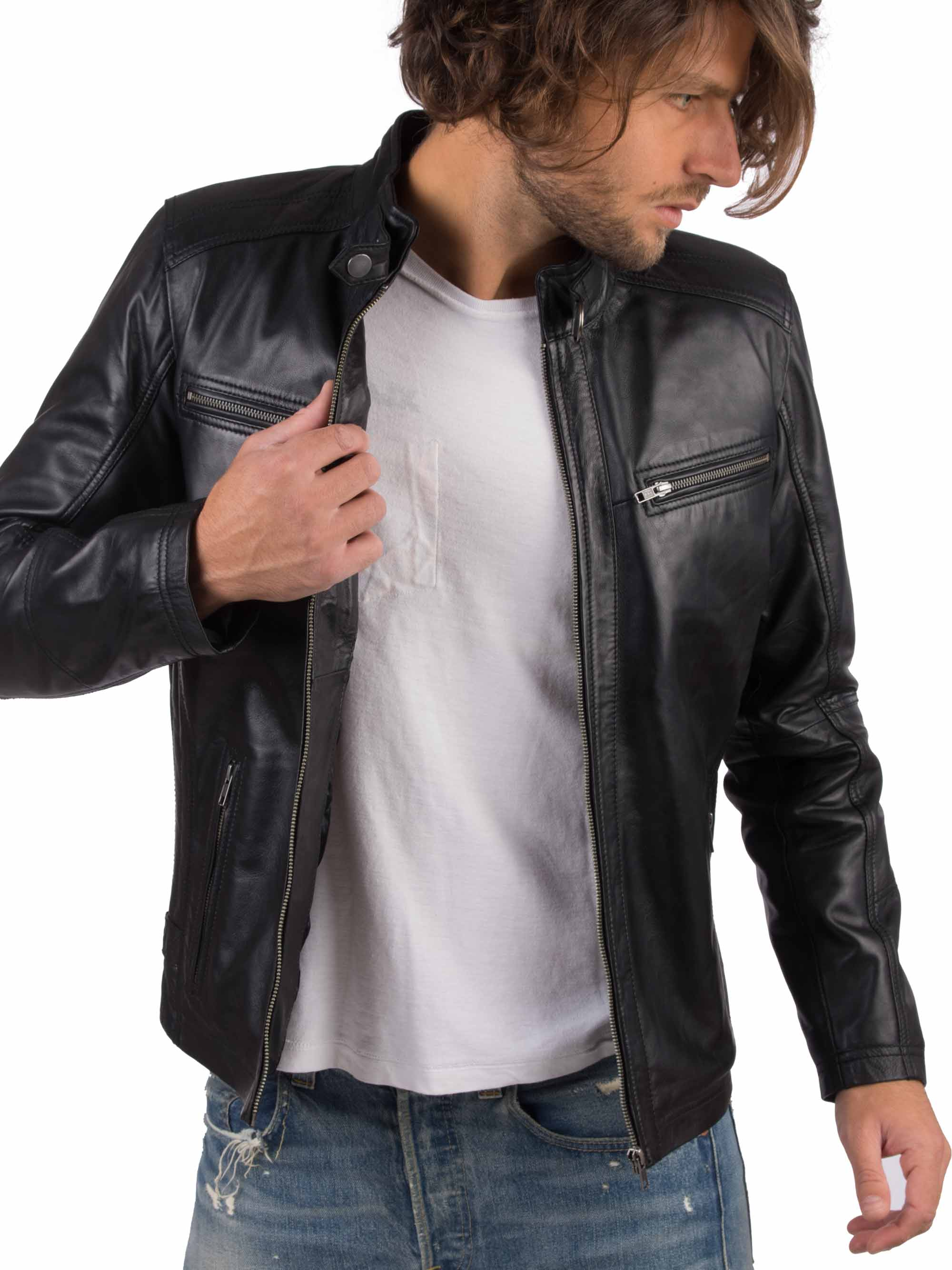 Hc77be2ec032e4205938a61d38d1086186 VAINAS European Brand Mens Genuine Leather jacket for men Winter Real sheep leather jacket Motorcycle jackets Biker jackets Alfa