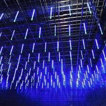 Новогодний декоративный светильник 30 см 50 см наружный Метеоритный Дождь 8 трубок светодиодный светильник s водонепроницаемый для рождественской свадебной вечеринки