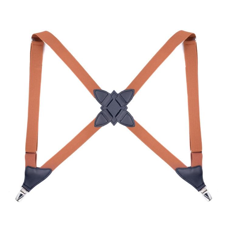 Retro 2 Clip Elastic Suspenders For Pants Groom Holster Strap Clip Side Clip Men Women Harness Brace Suspender Adult
