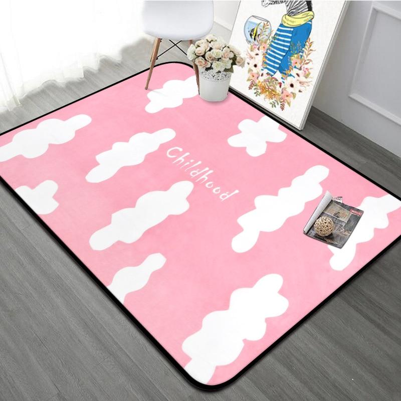 Tapis de nuage gris rose de Style nordique pour le salon grande taille moderne Table basse chambre tapis Tapete Simple tapis