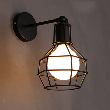 Retro Wall Lamp Vintage Industrial Iron Art Wall Light Bedside Lamp Living Room Wall Sconce LED E27 Indoor Wall Light Fixture american loft style iron wall sconce creative gear led wall lamp industrial vintage wall light fixtures indoor lighting
