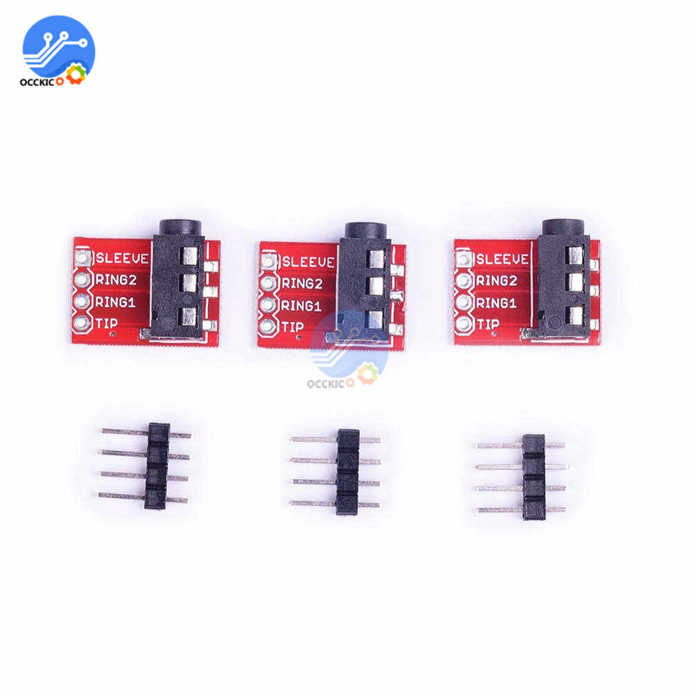 1 Pcs Trrs Audio Board 3.5 Mm Jack Stereo Earphone Headset Audio Pelarian Papan Modul Ekstensi