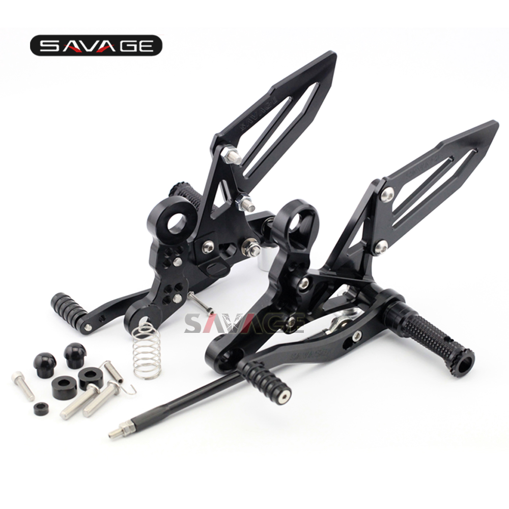 For YAMAHA MT-09 FZ-09 FJ-09 MT09 Tracer 900/GT XSR 900 2014-2020 Rider Front Footrest Foot Pegs Motorcycle Articulated Rearsets