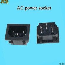 цена на 250VAC 15A AC power socket C14 Inlet Power Socket Connector Plug Industrial socket Plug IEC320 C14 3Pin Panel Power Inlet Socket