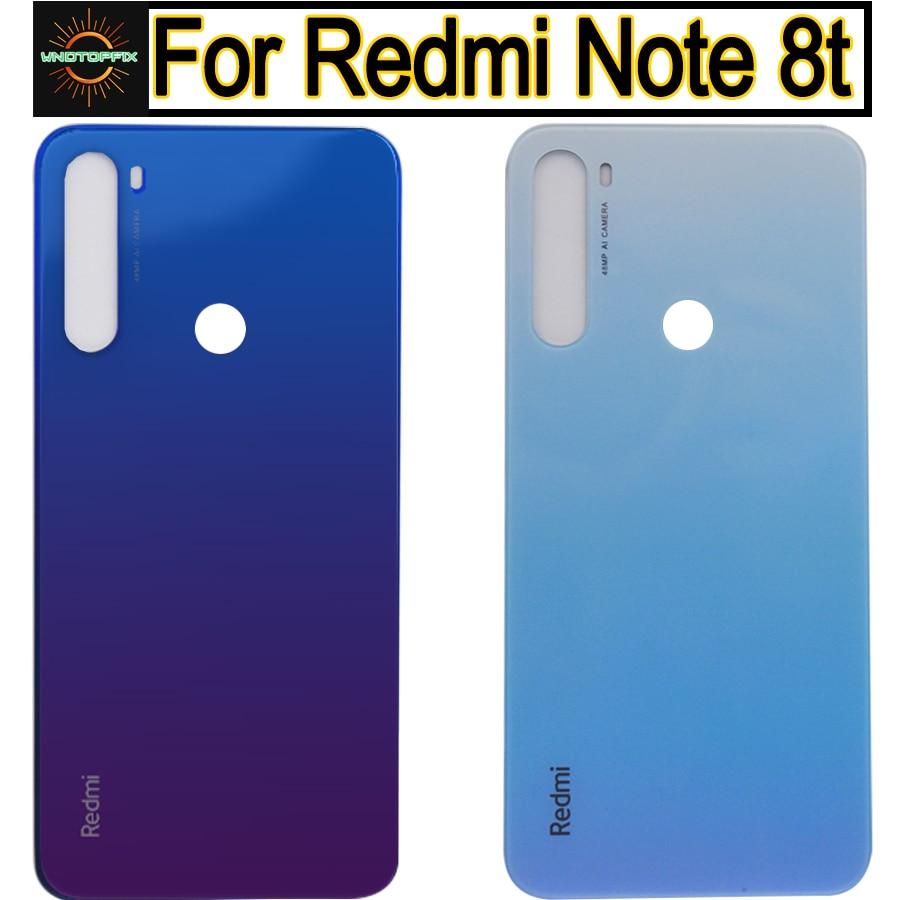 Оригинал для Xiaomi Redmi Note 8t крышка батареи Задняя стеклянная панель Задняя Дверь Корпус чехол для Redmi Note 8t Задняя крышка батареи