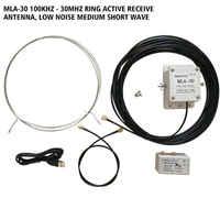 MLA-30 Loop Antenna Attiva Antenna di Ricezione A Basso Rumore Balcone Erezione Antenna 100 kHz-30 MHz per HA SDR Breve onde Radio