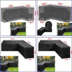 Image 5 - Su geçirmez L şekli mobilya kapak açık bahçe veranda Rattan kanepe toz geçirmez V şekilli kalıp dayanıklı kapak